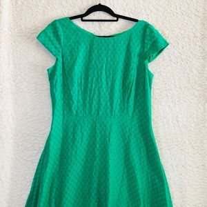 Nine West Green Textured Dress Size 14